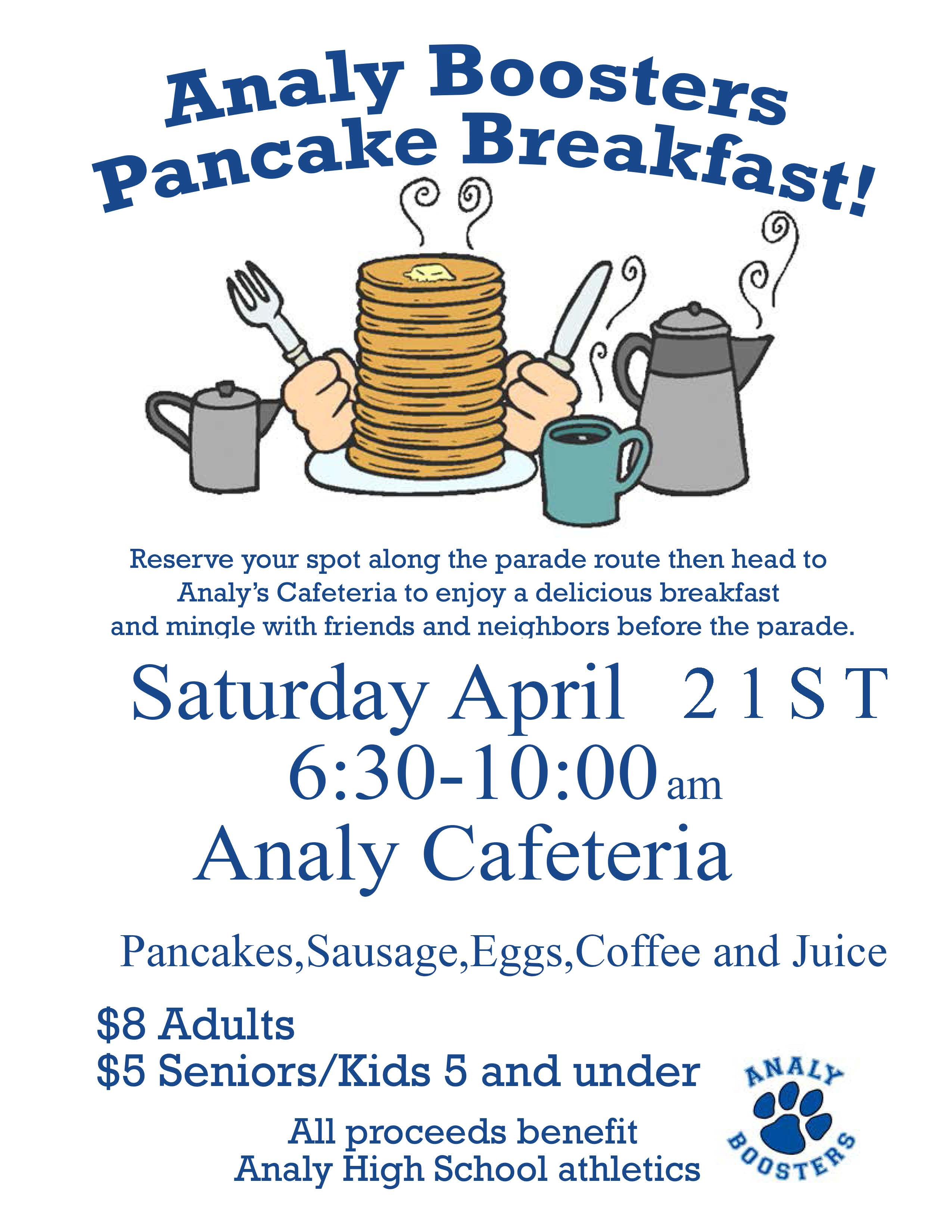 Analy Boosters Pancake Breakfast 2018